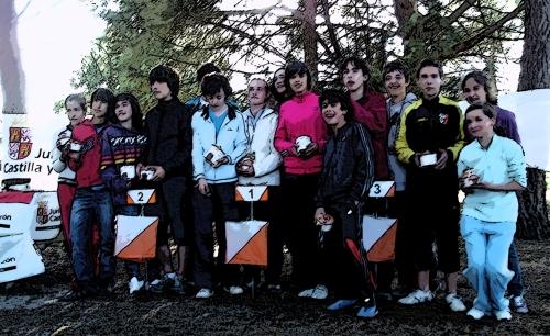 Podium del Regional Escolar 2009 en Valladolid