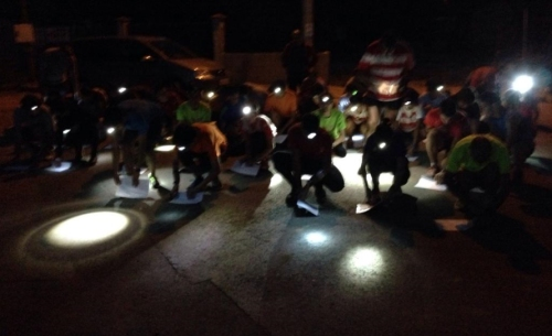Carrera nocturna en Cerezales del Condado